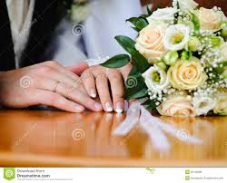 Wedding Ring Hand by Bride And Groom Wedding Rings Royalty Free Stock Image Image