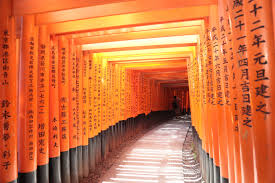 free images red color japan interior design aisle shrine