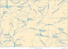 wy map map of wyoming lakes streams and rivers