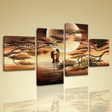 Bedroom Wall Decorations Modern Moon Lover Picture Large Stretched Canvas Prints Wall Art Abstract