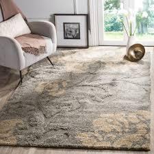 safavieh athens shag light gray 6 ft x 9 ft area rug sga119f 6