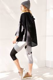 Without Walls Clothing by Without Walls Perforated Poncho In Black Lyst