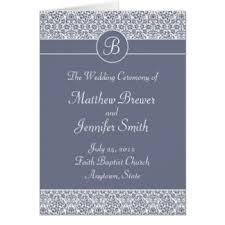 Order Of Wedding Program Wedding Program Greeting Cards Zazzle