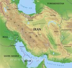 map or iran iran physical map
