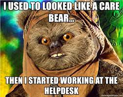 Care Bear Meme - i used to looked like a care bear then i started working at the