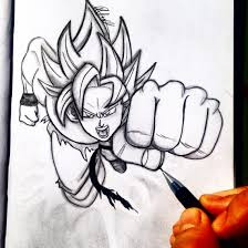 simple pencil drawing dragon ball z great drawing