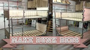 Make Bunk Beds Make Diy Bunk Beds Or Single Platform Bed From Kee Kl Scaffold
