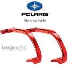 polaris new oem snowmobile ski loop grab handle toe set pair red