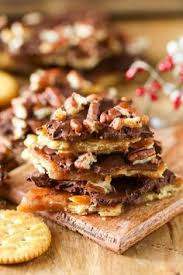 pecan christmas quick homemade toffee topped with