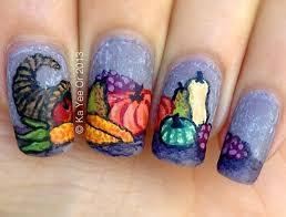 nail for thanksgiving 25 great thanksgiving nails ideas shown cornucopia nails