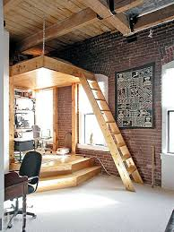 Office Loft Ideas A Raised Platform With An Overhead Suspended Storage Loft