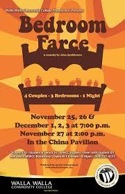 Alan Ayckbourn Bedroom Farce Wwcc Theatre Arts Presents