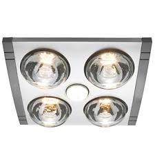 Bathroom Light And Heater Silver Heller Ceiling Light Heater Globe Ducted Exhaust Fan