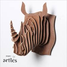 wooden animal wall india africa rhino wall decor diy wood wooden animal