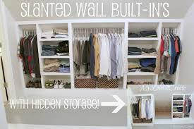 slanted wall built ins with hidden storage tutorial tiny house