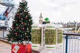 world u0027s first u201cbrussels sprout battery u201d lights up a christmas tree