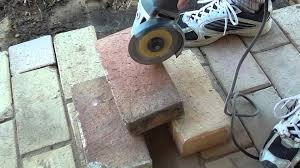 Cutting Patio Pavers How To Easily Cut Bricks With A Portable Angle Grinder