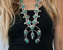 real turquoise necklace images Squash blossom necklace jewelry amor jpg