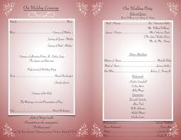 how to write a wedding program catholic wedding program the easy and ways weddings made