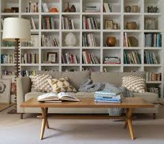 Living Room Wall Shelving by 9 Ideas For That Blank Wall Behind The Sofa Living In A Fixer Upper