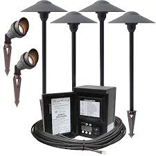 Malibu Led Landscape Lighting Kits Outdoor Led Landscape Lighting Spot Path Kit 2 Spot Lights 4