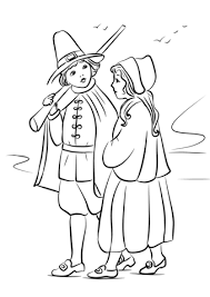 pilgrim children coloring free printable coloring pages
