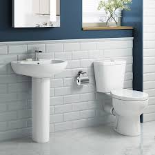 round pedestal basin close coupled toilet complete bathroom round pedestal basin close coupled toilet complete bathroom suite set cs613a ibathuk amazon co uk kitchen home