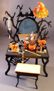 miniature halloween village halloween kits 1 4 scale michelle u0027s miniatures laser cut
