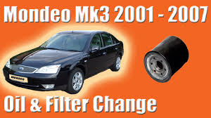 ford mondeo mk3 how to change the oil and filter 1 8 litre youtube