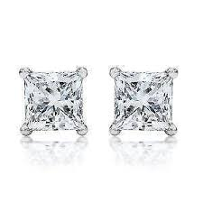 s diamond earrings princess cut diamond earrings ebay