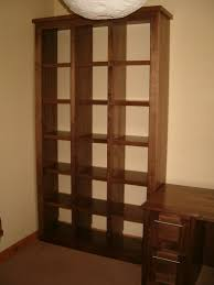 american walnut cube bookcase handcraft interiors