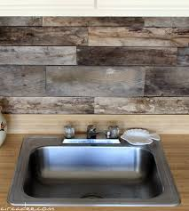 wood backsplash kitchen remodelaholic how to install a pallet wood back splash