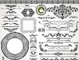 ornaments elements border and frames vecor free vectors ui
