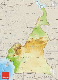 Physical Map Of South Africa by Physical Map Of Cameroon Shaded Relief Outside