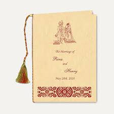 wedding ceremony program book indian wedding stationery