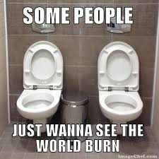 Meme Toilet - next to each other toilets with no divider now we ve seen it all