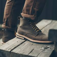 mens moto boots the mark boot in flint oiled nubuck