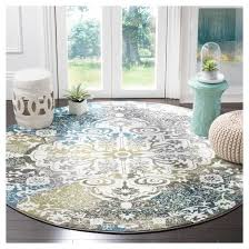 Peacock Blue Area Rug with 6 U00277