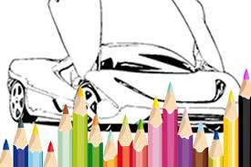 super car coloring book game android apps google play