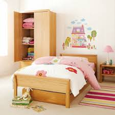 alluring purple and orange bunk bed design for girls bedroom with