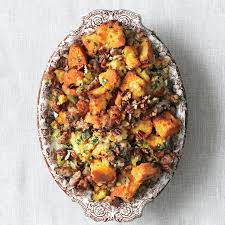 thanksgiving stuffing from scratch cornbread sausage and pecan dressing recipe epicurious com