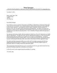 cover letter for healthcare administrator letter idea 2018