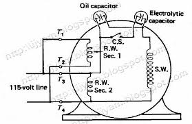 capacitor start motor wiring diagram start run diagram wiring
