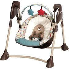 portable baby swing with lights graco swing by me portable baby swing twister walmart com