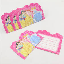 princess theme girls birthday party paper invitation card party