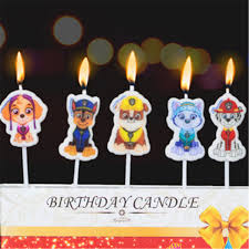 puppy party supplies 5pcs lot puppy patrol party supplies kids birthday candles evening