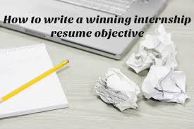 objective for an internship resume sle internship resume objective