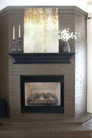 painted brick fireplace surround ideas if remember paint mantle