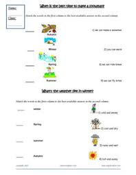 esl printable worksheets weather months clothes seasons