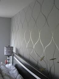 papier peint design chambre chambre a coucher avec papier peint gris motifs decoratifs